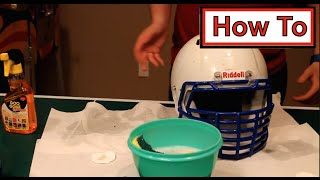 How to | Clean/Whiten a Football Helmet
