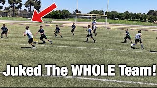 HE JUKED THE WHOLE TEAM!   YOUTH FLAG FOOTBALL GAME NFL PLAY 60