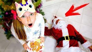 Катя ОТРАВИЛА Деда Мороза? МАМА и ПАПА Придумали Christmas Pancake Art Challenge на Новый Год 2019