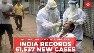 Coronavirus on August 8: 61,537 new Covid-19 cases recorded in India - Download this Video in MP3, M4A, WEBM, MP4, 3GP