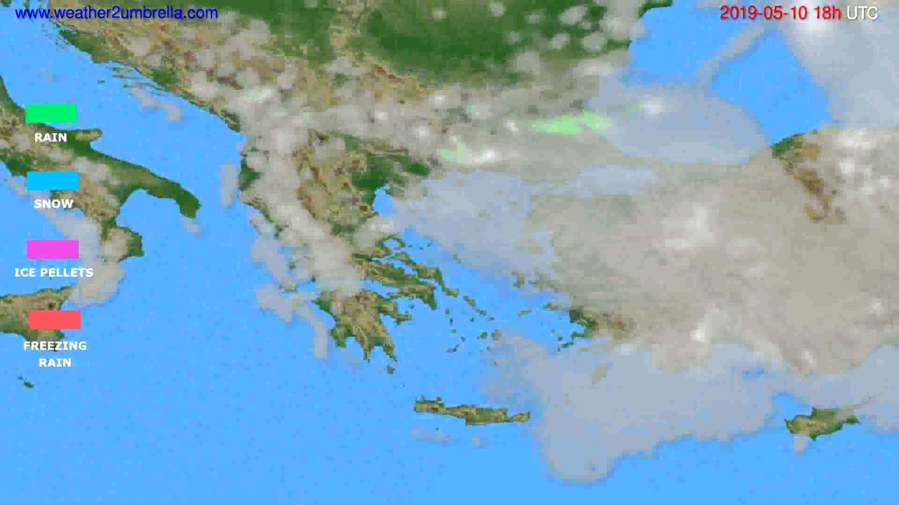 Precipitation forecast Greece // modelrun: 00h UTC 2019-05-08