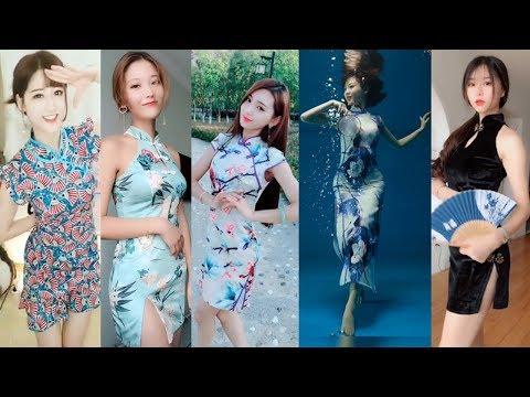 【抖音美女】最性感旗袍秀,高衩旗袍穿出S型的女人才是身材完美的女人#美女視頻合集