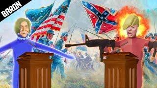 TABS Civil War!  Trump & Republicans vs Hillary & Bernie Totally Accurate Battle Simulator Gameplay