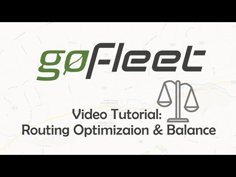 Routing, Route Optimization & Balance