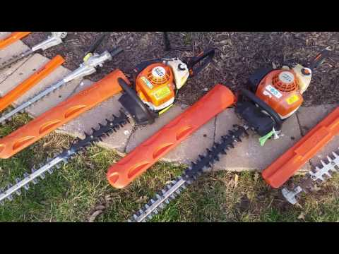 Stihl Echo hedge trimmers and chainsaw reviews 2017 setup