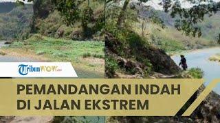 Viral Video Wanita Tak Sengaja Lewati Jalan Ekstrem dengan Pemandangan Indah, Oleng Dikit Beda Alam