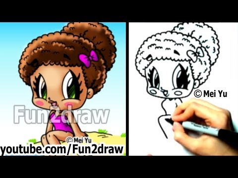 How to Draw Chibi Characters - Cute Beach Girl Fun Things to Draw - Fun2draw Summer People