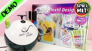 Orbis Airbrush Power Studio | Erweiterungsset für Kleidung mit Glitzersteinen und tollen Farben