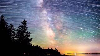 Milky way Meteor shower || 4K Time lapse