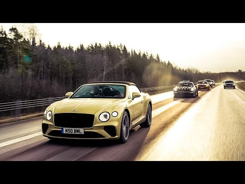 NEW Bentley Continental V8 2020 Convertible - The Snow Tour!
