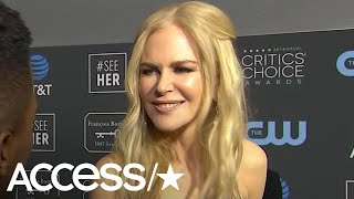 Nicole Kidman On That Awkward Golden Globes Moment With Rami Malek: 'I Love Him!'   Access