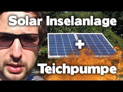 12V 200W Solar Inselanlage für Garten und 8400L/h Teichpumpe - eBikeundSo
