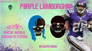 Purple Lamborghini - Skrillex & Rick Ross Ft. Adrian Peterson - NFL & Suicide Squad Music Video