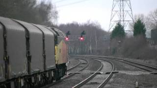 preview picture of video '47727 on the Boston Steel at Water Orton, 24/01/11.'