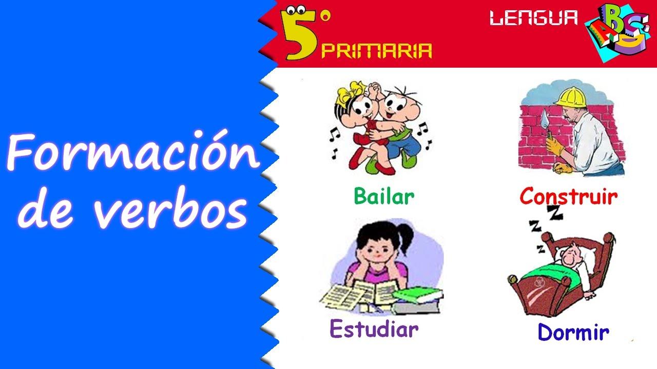 Formación de verbos. Lengua, 5º Primaria. Tema 12