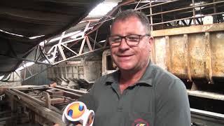 Imagem de Santa e documentos que estavam ao lado dela são únicos intactos depois de incêndio que consumiu oficina mecânica em Patos de Minas