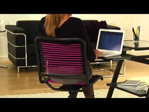 Video for Bungie Black Aluminum Low Back Office Chair