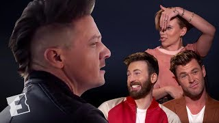 The Cast Of Avengers: Endgame React To Hawkeyes New Mohawk | Exclusive Interview | Fandango