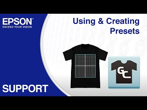 Epson Garment Creator | Using & Creating Presets
