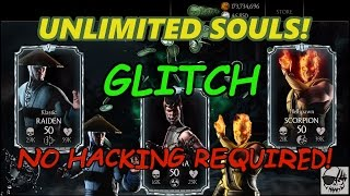 Mortal Kombat X Unlimited Souls Glitch!  Free Souls in MKX - No Hack Required!