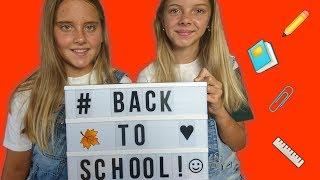 BACK TO SCHOOL!!! ВИДЕО СНОВА В ШКОЛУ! Катя и Ксюша показывают покупки к школе / арт набор для школы