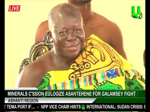 Minerals Commission eulogize Asantehene for galamsey fight