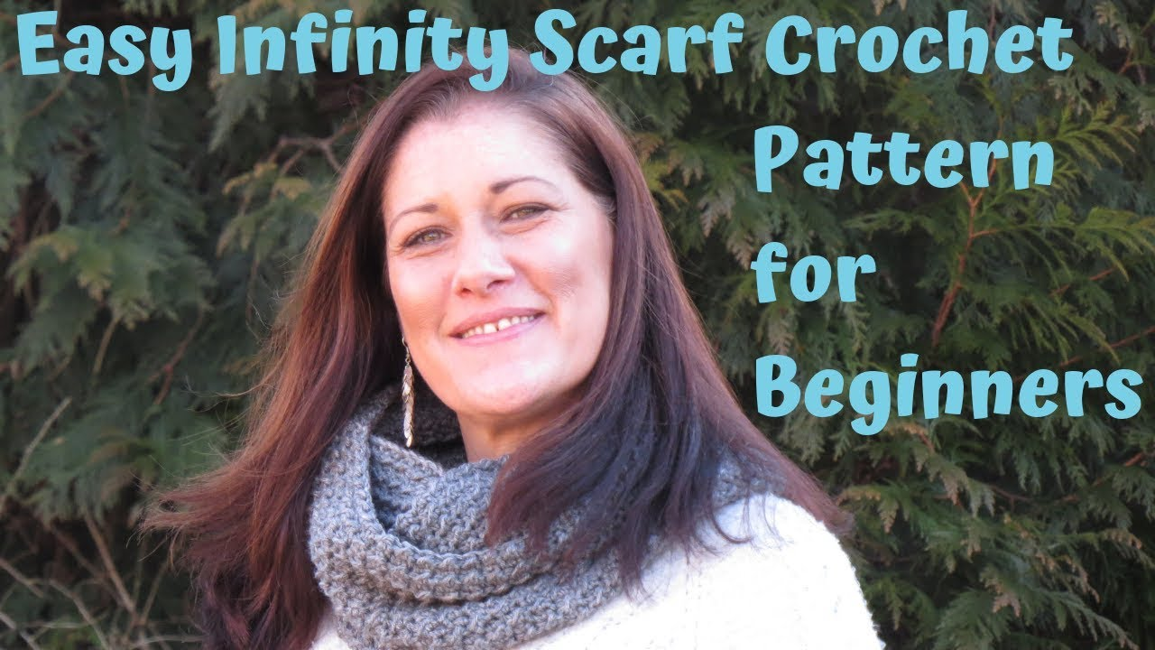 Easy Infinity Scarf Crochet Pattern for Beginners