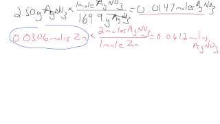 Solving For The Limiting Reactant - Zn + AgNO3