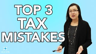 Top Three Tax Mistakes Business Owners Make!