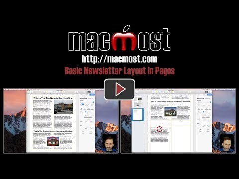 Basic Newsletter Layout in Pages (#1475)