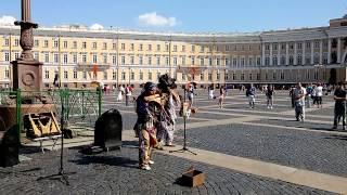궁전광장 에콰도르 인디언 팬플룻 연주(외로운 목동)