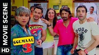Tum Mil Gaye Ghar Mil Gaya | Golmaal 3 | Comedy Movie Scene