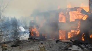 В поселке Мотыгино полностью сгорела школа