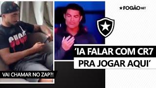 Será que convence? Rafael diz que chamaria Cristiano Ronaldo para jogar no Botafogo 📱🔥