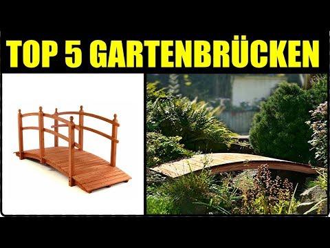 TOP 5 HOLZBRÜCKEN ★ Garten Holzbrücke + Gartenteichbrücke ★ Garten Teichbrücke aus Holz & Metall,...