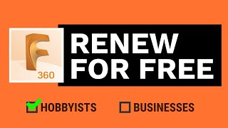 How to RENEW your Fusion 360 Personal Use license | Get Fusion 360 for Free