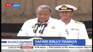Rais Uhuru afungua Rasmi KCB  Safari rally | Zilizala Viwanjani