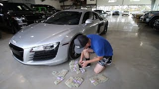 Buying my Audi R8 in CASH!!