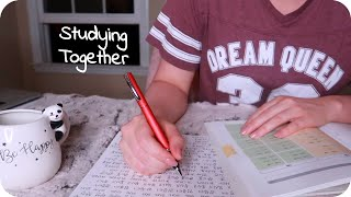ASMR Night Time Studying by an Open Window (Inaudible Whisper, Pen Writing, Crickets, Ambiance) ✒️