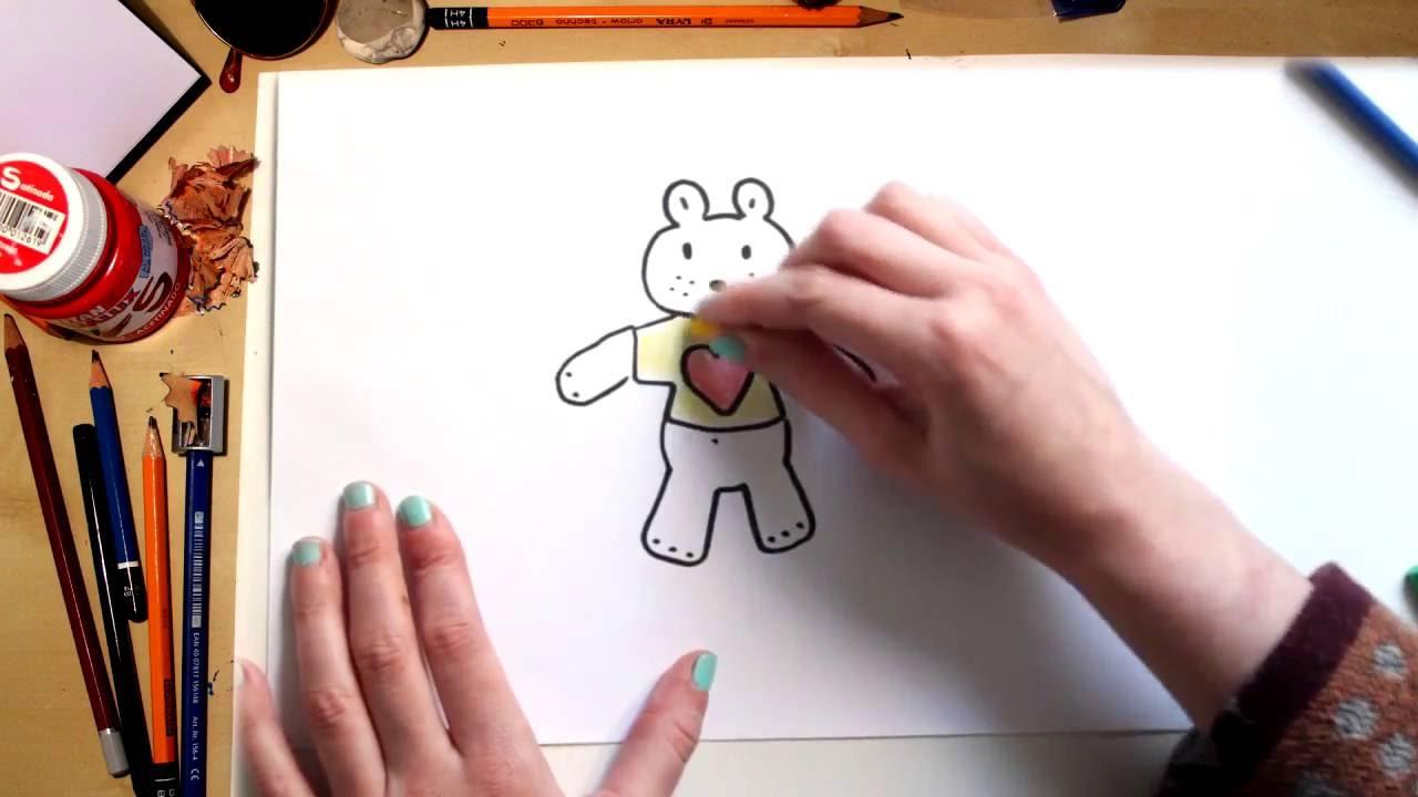 Como desenhar um urso de pelúcia - desenhos para crianças
