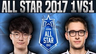 Faker Syndra vs Bjergsen Taliyah 1vs1 - 2017 All-Star Event Day 2 - League of Legends All-Star 2017