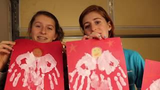 Kids Footprint Angel Craft | Countdown Day 21