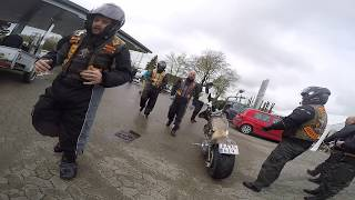 Hells Angels meet bandidos Car Parking