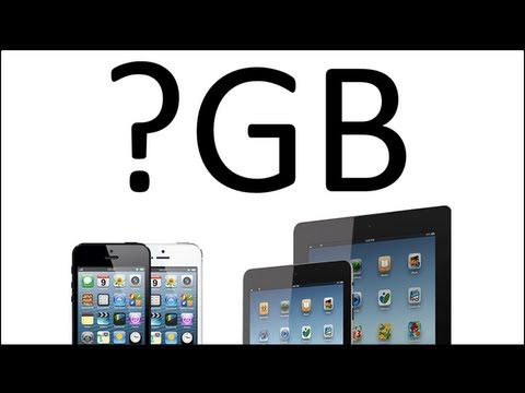 What iPhone / iPad Memory Should You Get ? - 16, 32 or 64 GB ?