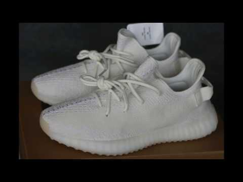 f46fe16bd09ed Yeezy boost 350 v2 Triple White Unboxing   Review from aj23.