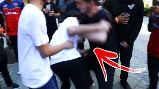 CRAZY FAN TACKLES ME IN PUBLIC! (wtf)