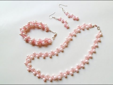 Download PandaHall Jewelry Making Tutorial Video--How To Make Beaded Spiral Pearl Jewelry Set HD Mp4 3GP Video and MP3