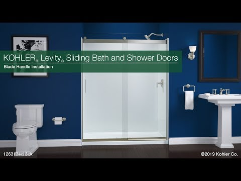 Installation - Blade Handles for Levity Sliding Bath and Shower Doors