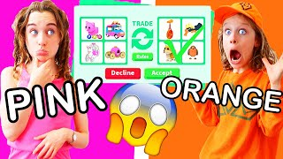 TRADING ONLY IN YOUR COLOR in Adopt Me ROBLOX Gaming w/ The Norris Nuts