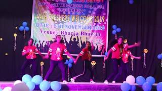 Govt.college,Rourkela // Freshers welcome 2019//Dance by Crazy girls dance group